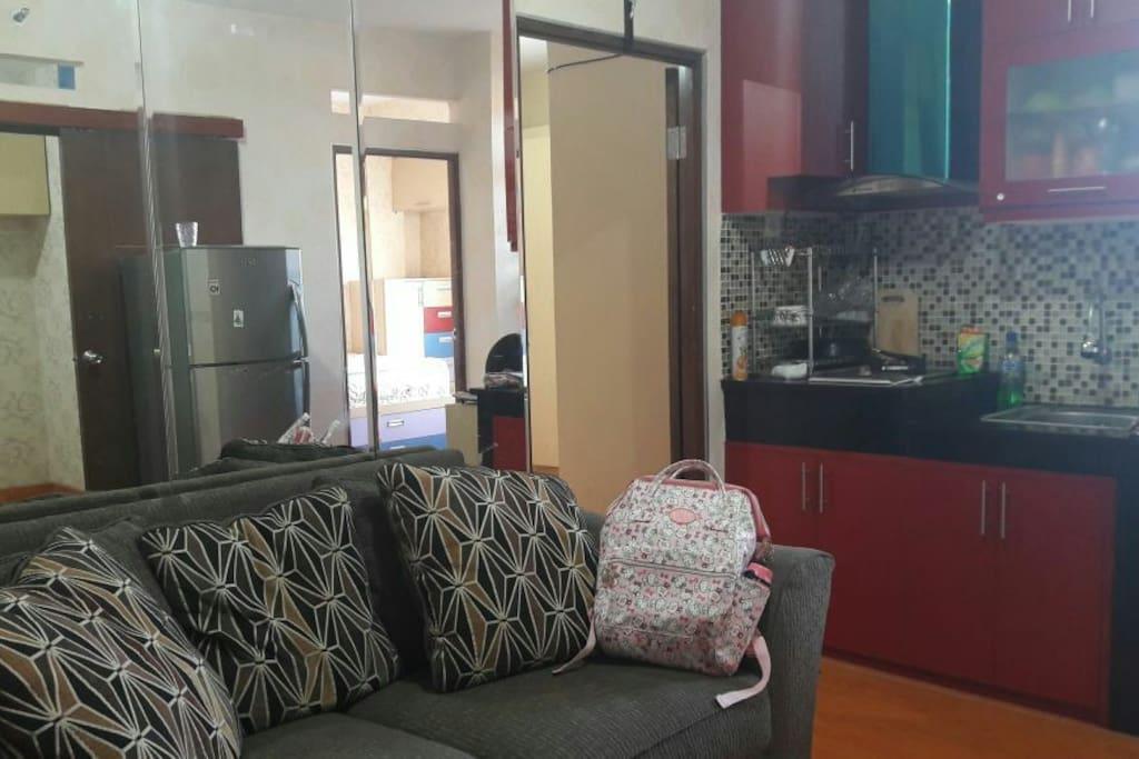 sofa dan kitchen set