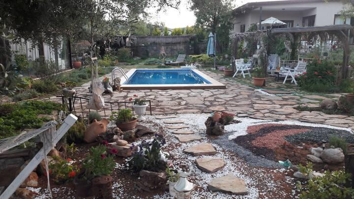 Havuzlu taş ev Nesly house