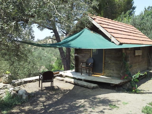 WOODEN HOUSE IN THE OLIVE FARM @ BADEMLI - Bademli - Boomhut