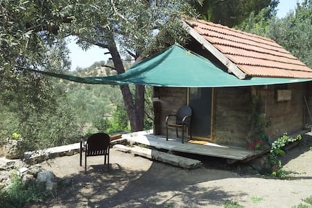 WOODEN HOUSE IN THE OLIVE FARM - Bademli