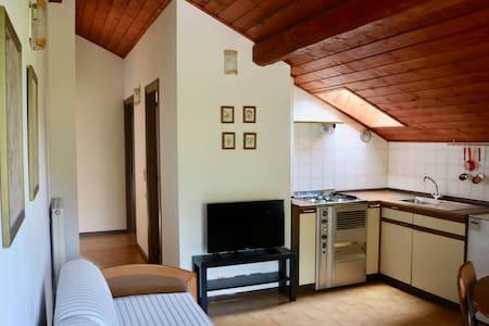 Lovely wooden beam ceiling apartment