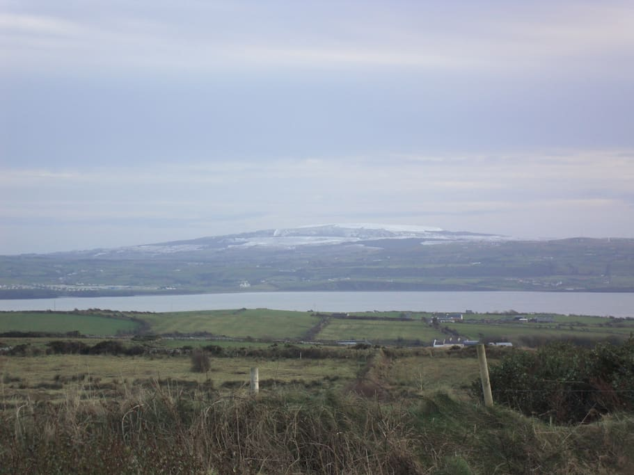 View of Liscannor Bay from front of cottage