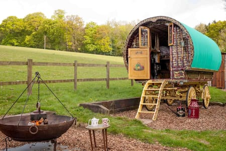 Gypsy Caravan and Shepherds Hut in The Chilterns - Turville Heath - Penzion (B&B)