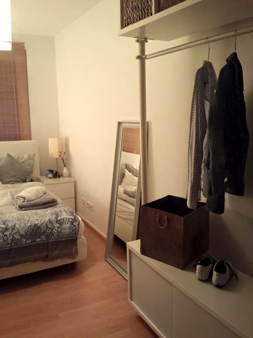 spaced wardrobe and a mirror for you!