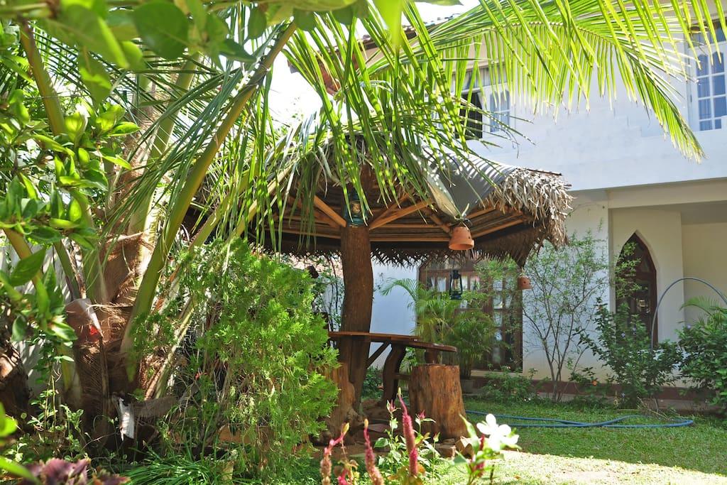Beautiful garden with gazebo