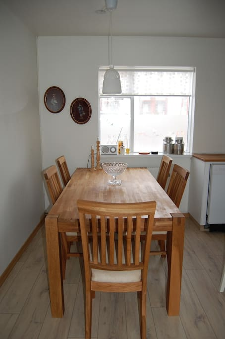 There is plenty of space when you are dining ! You can even invite someone to join you!