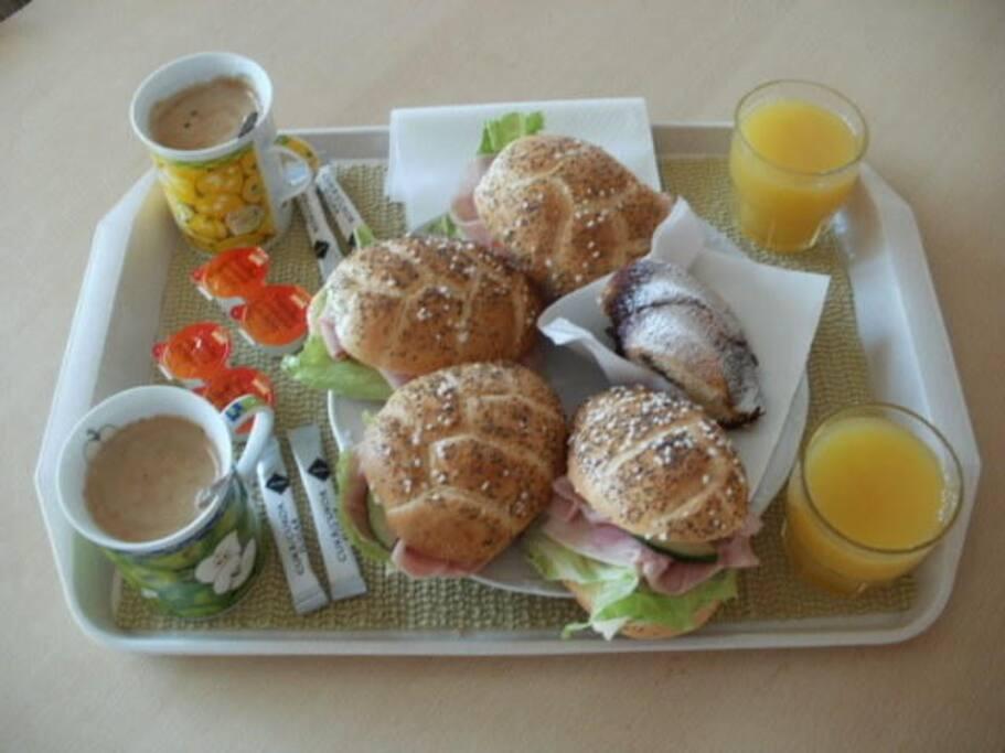 čerstvá a chutná domácí snídaně