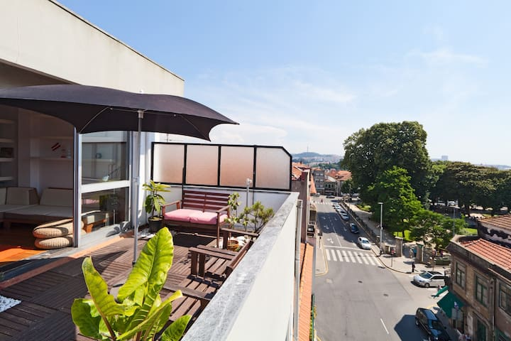Big TERRACE APARTMENT / city center - Porto - Wohnung