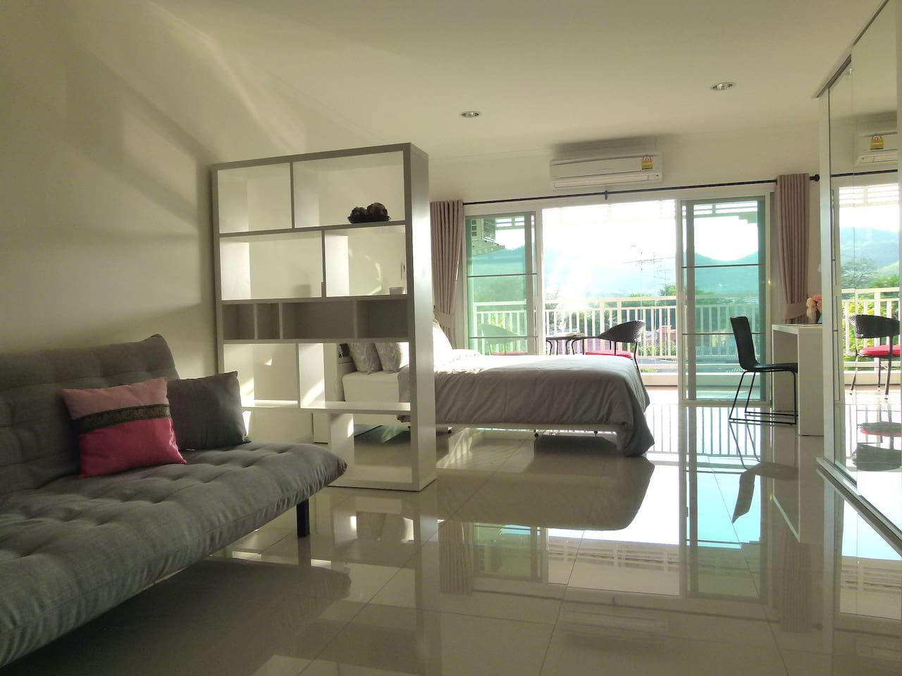 Living Room and Bed Room