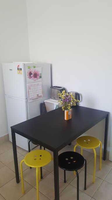 Cosy meals area