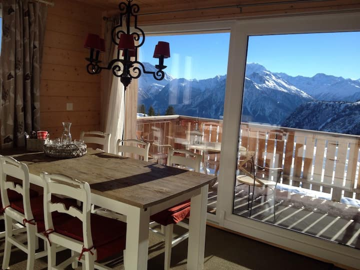 Belalp Chalet at 2000meters with a beautiful view