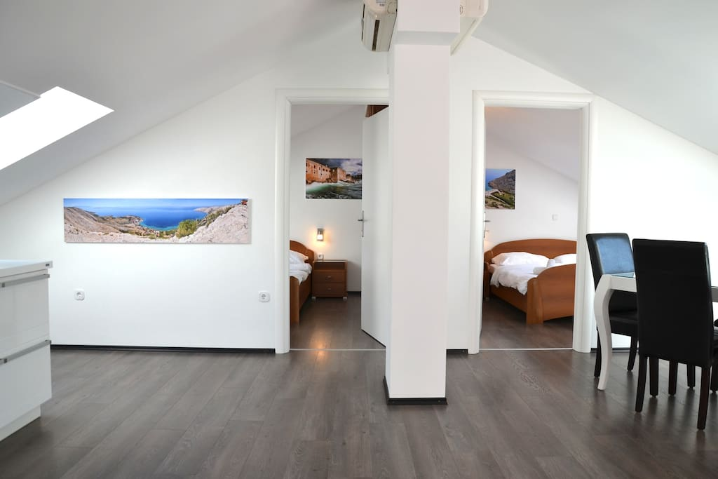 Living room towards rooms
