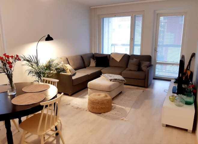 Big and new apartment with private sauna