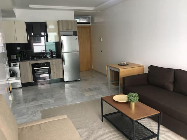 Appartement au centre ville et face à la mer