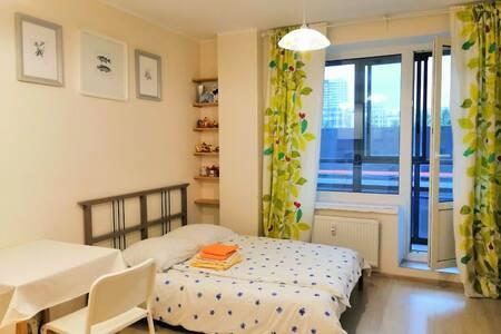 Уютная квартира-студия у метро Девяткино, Эланд.