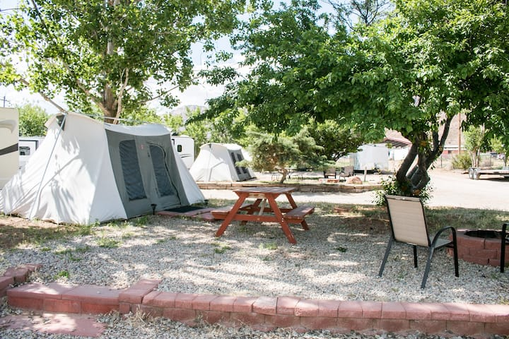 FunStays Glamping Setup Tent in RV Park #2 OK-T2