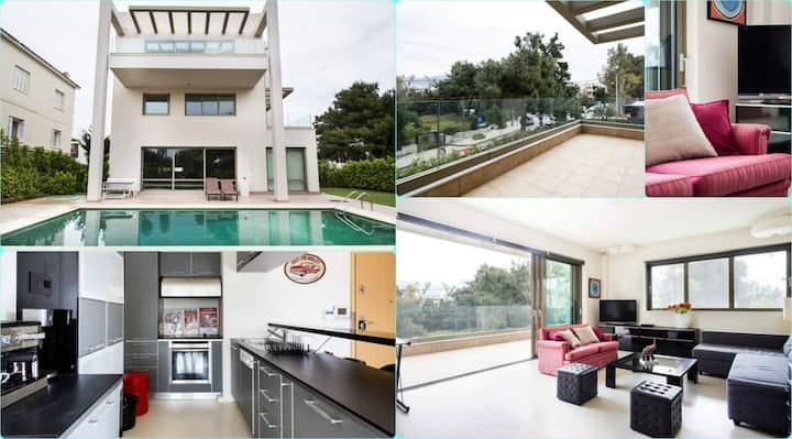 Oikos Athens: Trendy Apartment - Swimming Pool