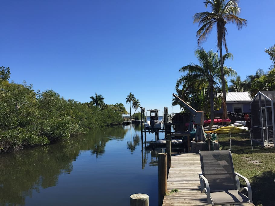 View from our dock
