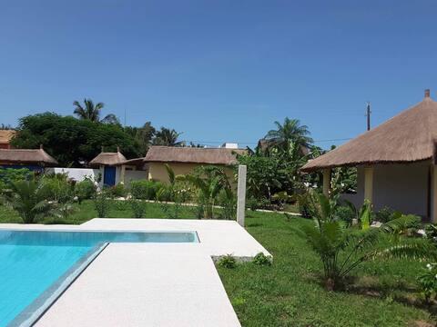 Case de charme Cajou plage 50m piscine wifi