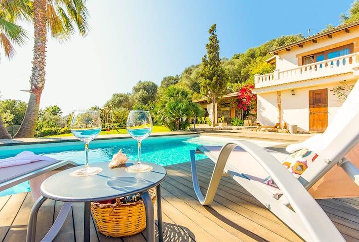 Finca Puig del Morro Muro Mallorca with Pool, garden and internet