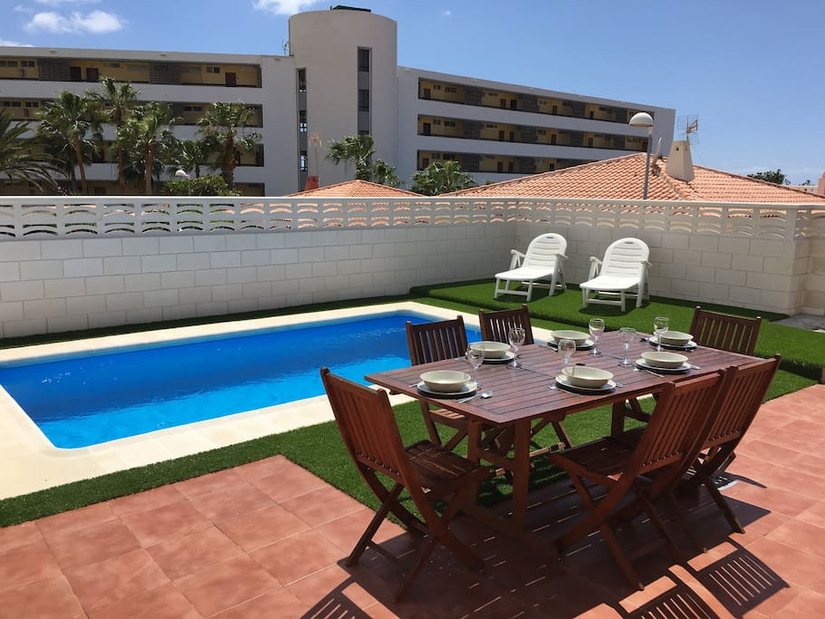 villa 84 with car included and private pool villas for rent in callao salvaje canarias spain. Black Bedroom Furniture Sets. Home Design Ideas