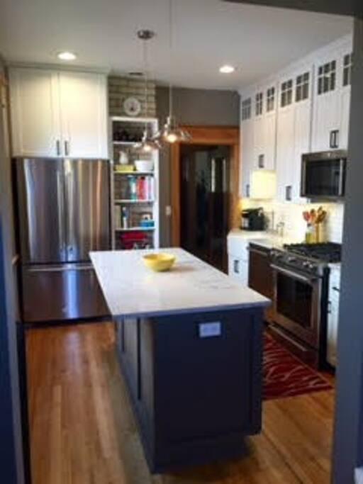 Completely remodeled modern kitchen