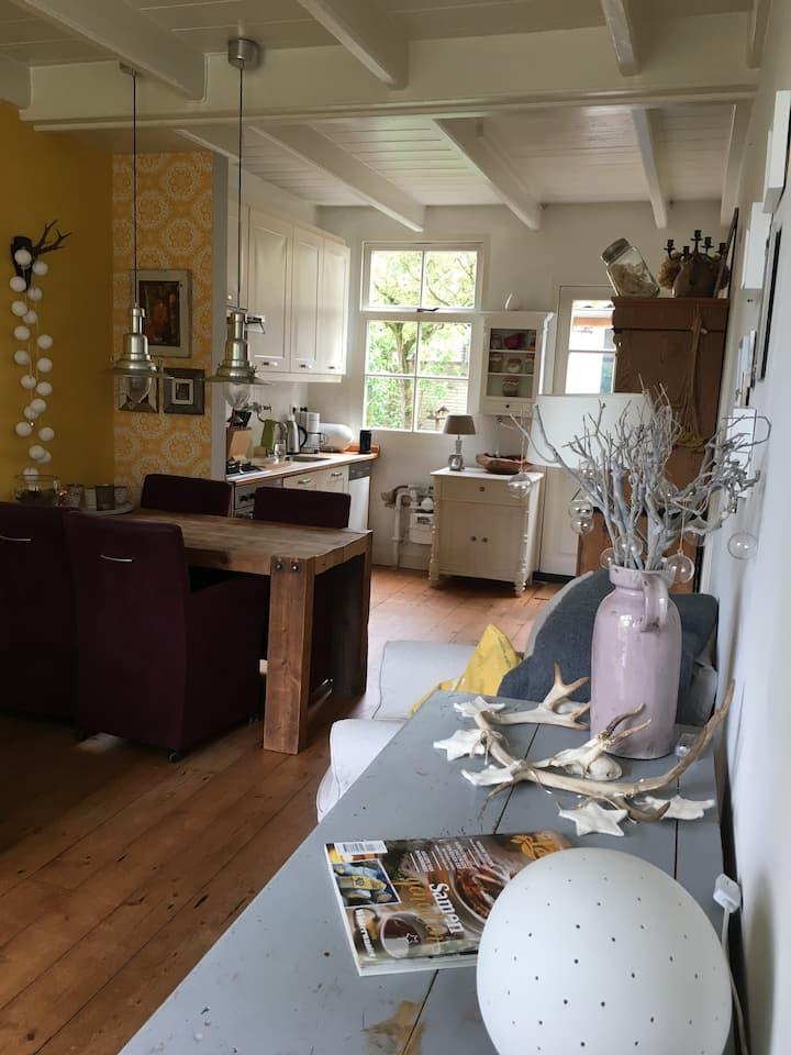Romantische cottage Driebergen vlakbij Utrecht