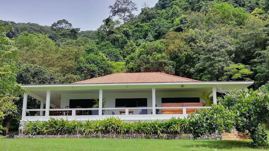 Q Bungalows - The Blue House 180°sea view