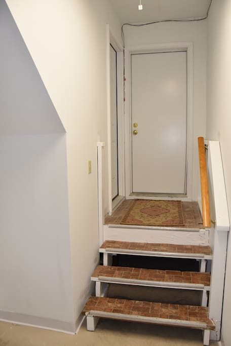 Own coded door to upstairs
