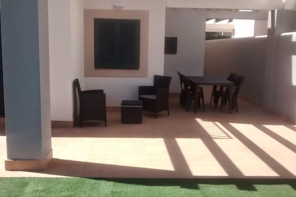 Pérgola jardín