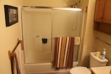Modern, clean shower with endless hot water