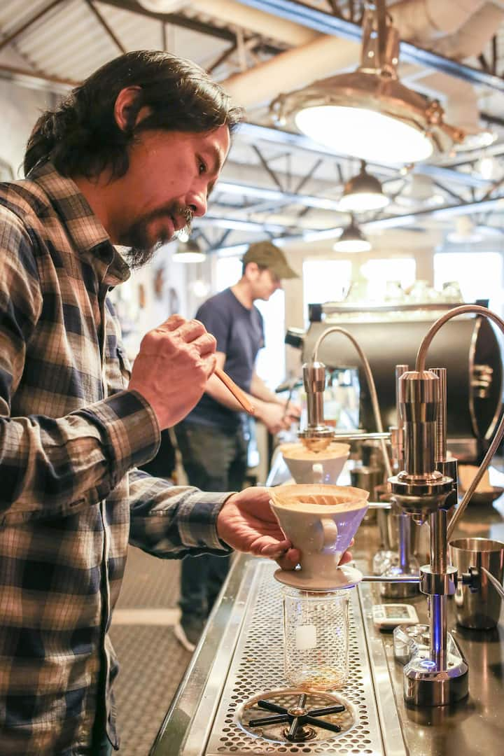 Witness a coffee pour-over demonstration