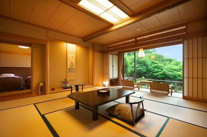 Japanese-Style Maisonette Suite with Open-Air Bath