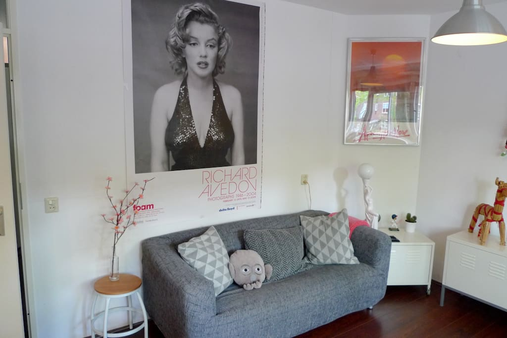 Marilyn hangs above our couch.