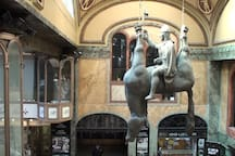 Czech controversial sculptor - David Černy - whose works can be seen in many locations in Prague.