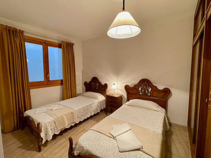 Room with 2 single beds + private bathroom