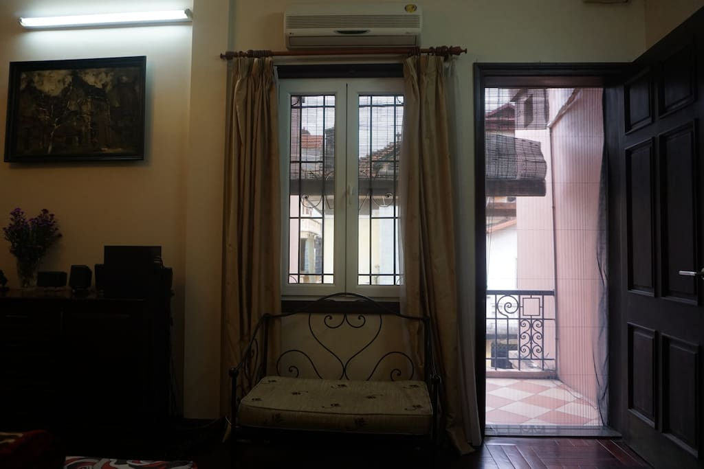 Window and private balcony