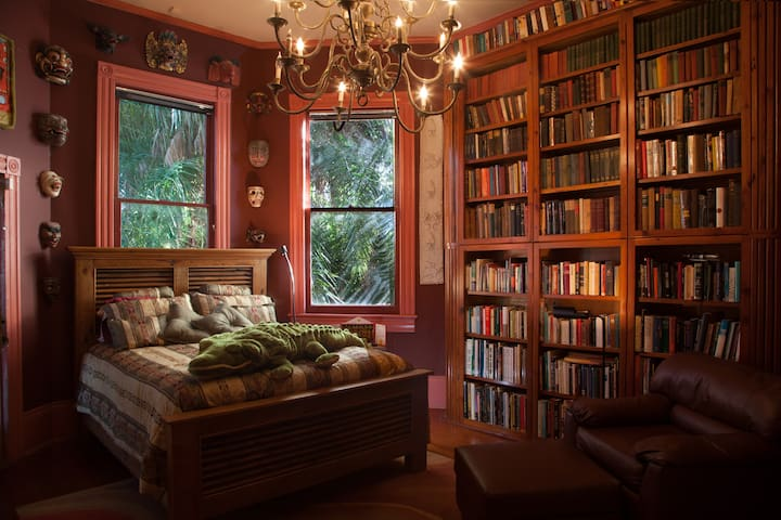 Parks-Bowman Mansion: The Library - New Orleans