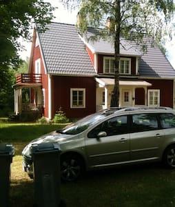 Stort hus på landet.