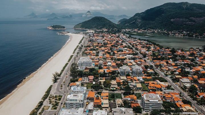 Praia de Piratininga cobertura Niteroi