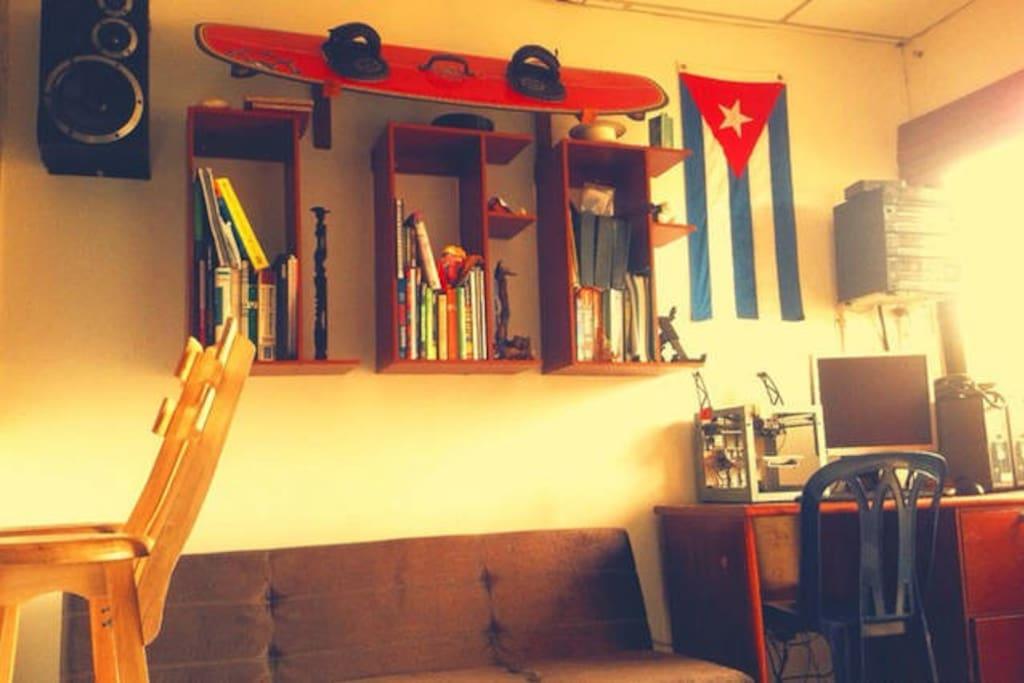 Esta es la sala de mi casa.