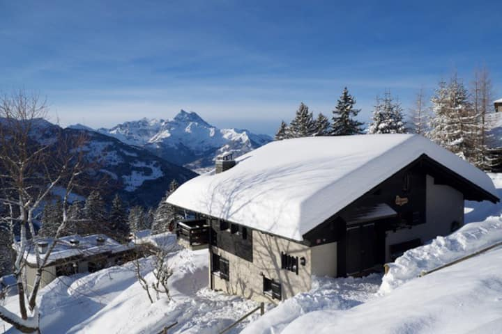 "Ski-in/ski-out family chalet ""Le Pigeonnier"""