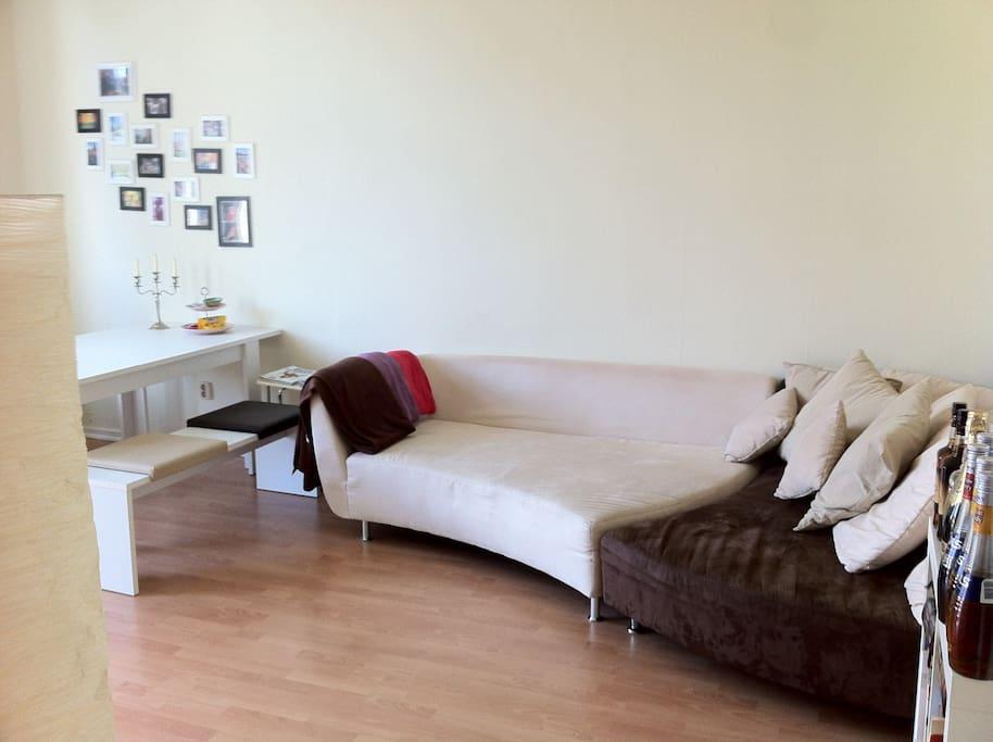 Wohnzimmer (extra Matratze 1,40 m vorhanden)