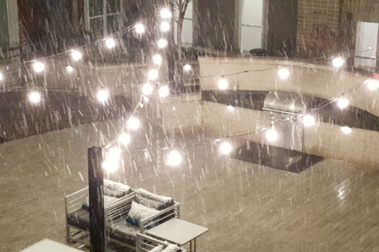 The courtyard in the snow