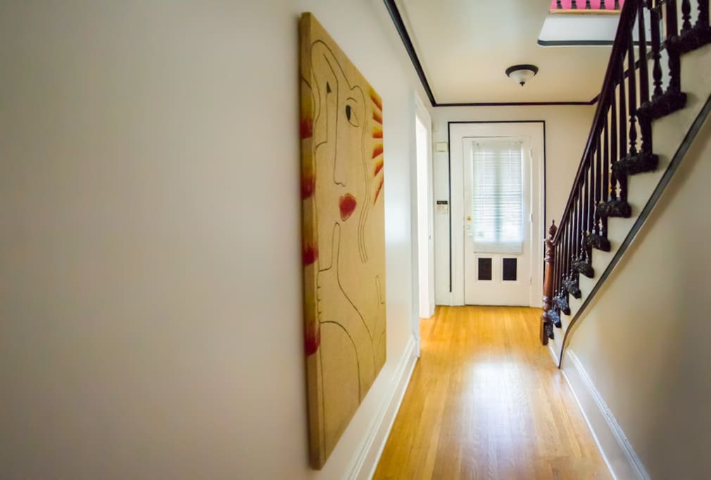 Entrance Hallway to Loft Apartment.