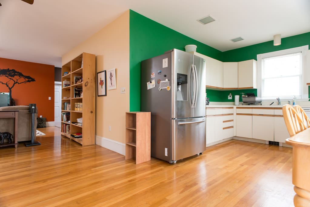 Open layout with kitchen