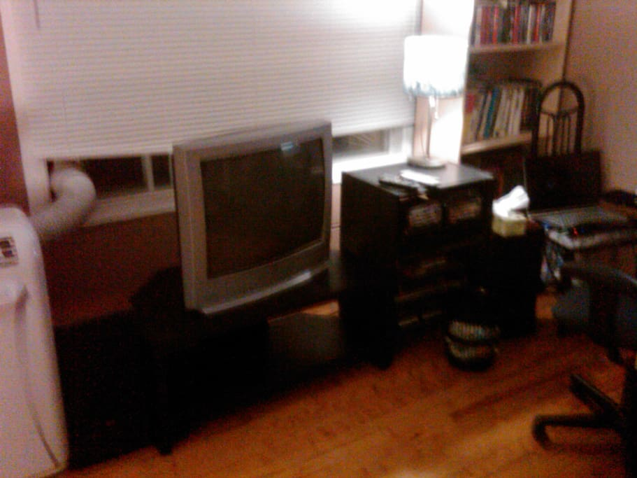 AC, TV, Stereo, Books. Nothing worth stealing here : )