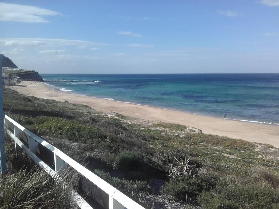 five minute walk to beach
