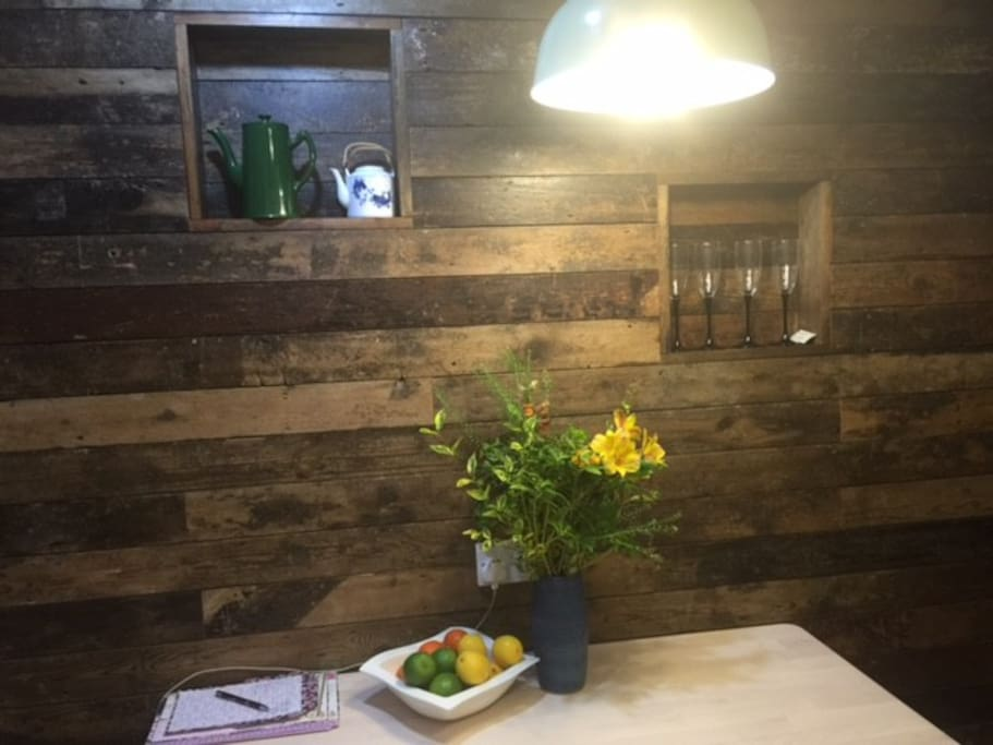 Kitchen wall with Victorian Reclaimed Wood