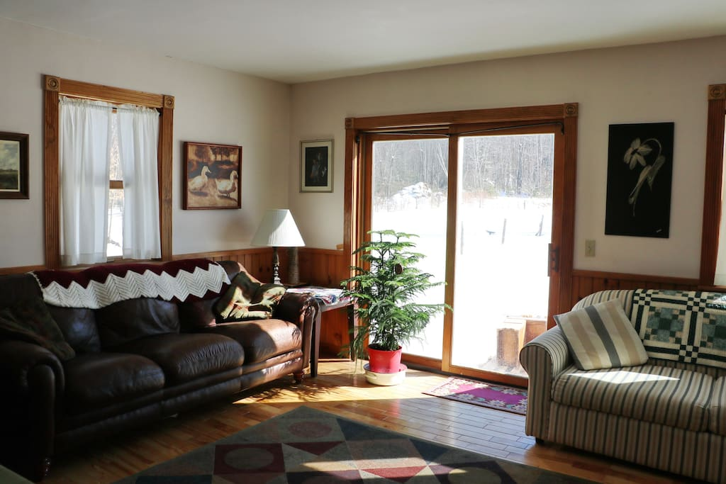 A cozy living room atmosphere to share with your hosts.